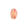 Rubino Pink Gold Foil Rondelle 13x8mm 2mm Hole, Murano Glass Bead