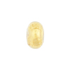 Clear Gold Foil Rondelle 13x8mm 2mm Hole, Murano Glass Bead