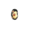 Gold and Silver Luna Rondelle 13x8mm 2mm Hole, Murano Glass Bead