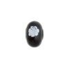 Black & White Millefiori Rondelle 13x8mm 2mm Hole, Murano Glass Bead