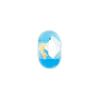 Aqua Gold, Silver Foil Rondelle 13x8mm 2mm Hole, Murano Glass Bead