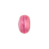 Pink White Gold Foil Rondelle 13x8mm 2mm Hole, Murano Glass Bead