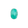 Sea Green White Gold Foil Rondelle 13x8mm 2mm Hole, Murano Glass Bead