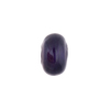 Plum White Gold Foil Rondelle 13x8mm 2mm Hole, Murano Glass Bead