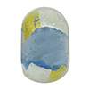 Blue Gold & Silver Foil Rondelle 15x10mm 5.5mm Hole, Murano Glass Bead