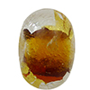 Topaz Gold & Silver Foil Rondelle 15x10mm 5.5mm Hole, Murano Glass Bead