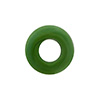 Pea Green Rondelle 15X10mm 6mm Hole, Murano Glass Bead