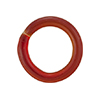 Murano Glass Ring 15X10mm Rondel, Transparent Red