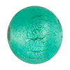 Verde Marino Light White Gold Foil 8mm Round, Murano Glass Bead