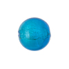 Aqua White Gold Foil Round 16mm Murano Glass Bead
