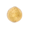 Clear Encasing 24kt Gold Foil Round 18mm Round Murano Glass Bead