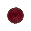 Red Encasing 24kt Gold Foil Round 18mm Round Murano Glass Bead