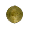 Light Olivine Gold Venetian Beads Gold 20mm Round