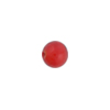 Poppy Red Caramella Round 8mm, Venetian Glass Bead