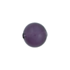 Murano Glass Bead, Purple Velvet Caramella Round 12mm