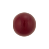 Cherry Red Caramella Round 16mm, Venetian Glass Bead