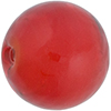 Poppy Red Caramella Round 25mm, Venetian Glass Bead