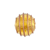 Gold with Aventurina Outside Spirals 14mm Round Gold Foil, Murano Glass Bead