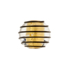 Black Outside Spirals 16mm Round Gold Foil Murano Glass Bead