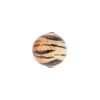 Light Topaz & Black Tiger Bright Sparkle Venetian Bead Round 12mm