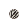 Black & White Zebra Bright Sparkle Venetian Bead Round 12mm
