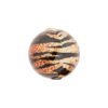Dark Topaz & Black Tiger Bright Sparkle Venetian Bead Round 16mm