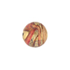 Murano Glass Bead, Exterior Gold Foil Blue and Pink, Round 14mm