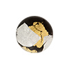 Gold n Silver Splashes 18mm Vicenza Black, Murano Glass Bead