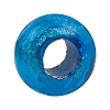 Aqua Silver Foil Rondell 16x10 6.8mm Hole Murano Glass Bead