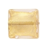 Rose Gold Foil 20mm Square Venetian Bead
