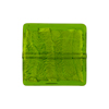 Emerald Gold Foil 20mm Square Venetian Bead