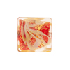 Calcedonia Red and Gold Foil Murano Glass Square 17mm