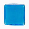 Aqua over White Core Murano Glass Bead, 10mm Square