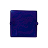 Murano Glass Bead Carmello Square 20mm White Heart Cobalt