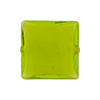 Murano Glass Bead Carmello Square 20mm White Heart Peridot