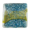 Aqua Ca'd'oro White Gold/Gold Band Pillow 20mm Venetian Glass Bead