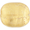 Gold Foil Cushion Rectangle 35x30mm, Murano Glass Bead