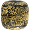 Ca'd'oro Black Gold Foil Cushion Rectangle 35x30mm, Murano Glass Bead