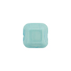Venetian Bead Square Bevel Cut 12mm Opaque Turquoise