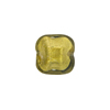 Olivine 24kt Gold Foil Beveled Square 12mm, Venetian Glass Bead
