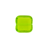 Venetian Bead Square Cut 12mm Transparent Peridot Green