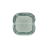 Venetian Bead Square Bevel Cut 16mm Transparent Light Gray