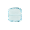 Venetian Bead Square Cut 16mm Transparent Aquamarine