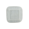 Venetian Bead Square Cut 19mm Opaque Gray Pearl