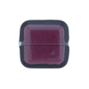 Venetian Bead Square Cut 19mm Transparent Amethyst