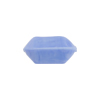 Venetian Bead Bicone Cut 18x10mm Opaque Blue