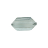Venetian Bead Bicone Cut 18x10mm Transparent Light Steel Gray