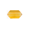Venetian Bead Bicone Cut 18x10mm Transparent Light Topaz
