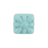 Venetian Glass Bead Square Starburst 15mm Turquoise