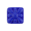 Venetian Glass Bead Square Starburst 18mm Opaque Cobalt